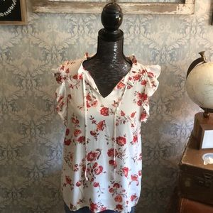 The silk floral tank top